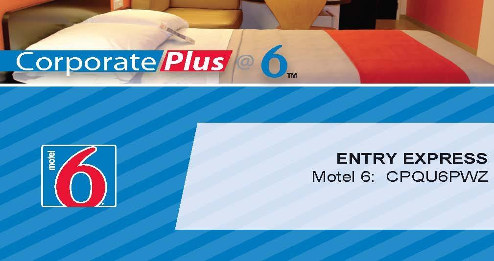 corporate plus id number motel 6